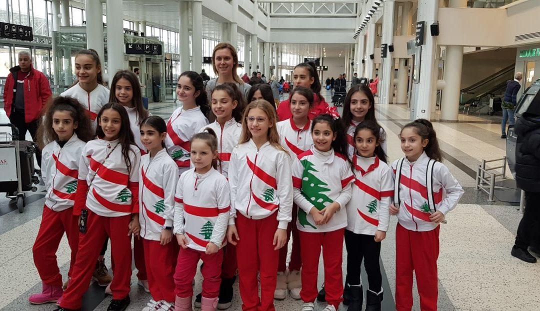8 ميداليات ذهبية لفتيات لبنان في بطولة شافكار الدولية للجمباز الإيقاعي