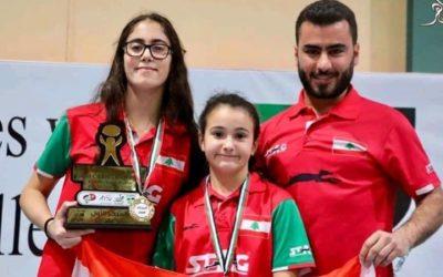 بطلة لبنان تاليا عازار واللاعبة ياسمينا الهبش إلى نهائيات آسيا في كرة الطاولة