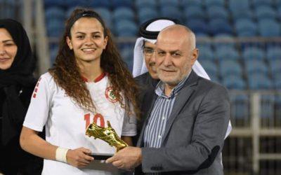 اللاعبة اللبنانية ليلي اسكندر  تلتحق بتمارين نادي فيردر بريمن الألماني