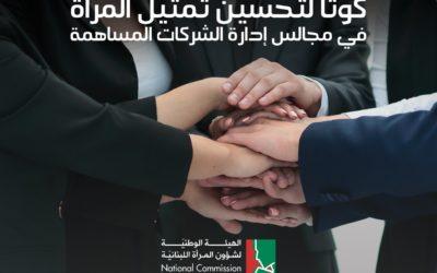 اقتراح قانون تحسين تمثيل المرأة في مجالس إدارة الشركات المساهمة في المجلس النيابي اللبناني